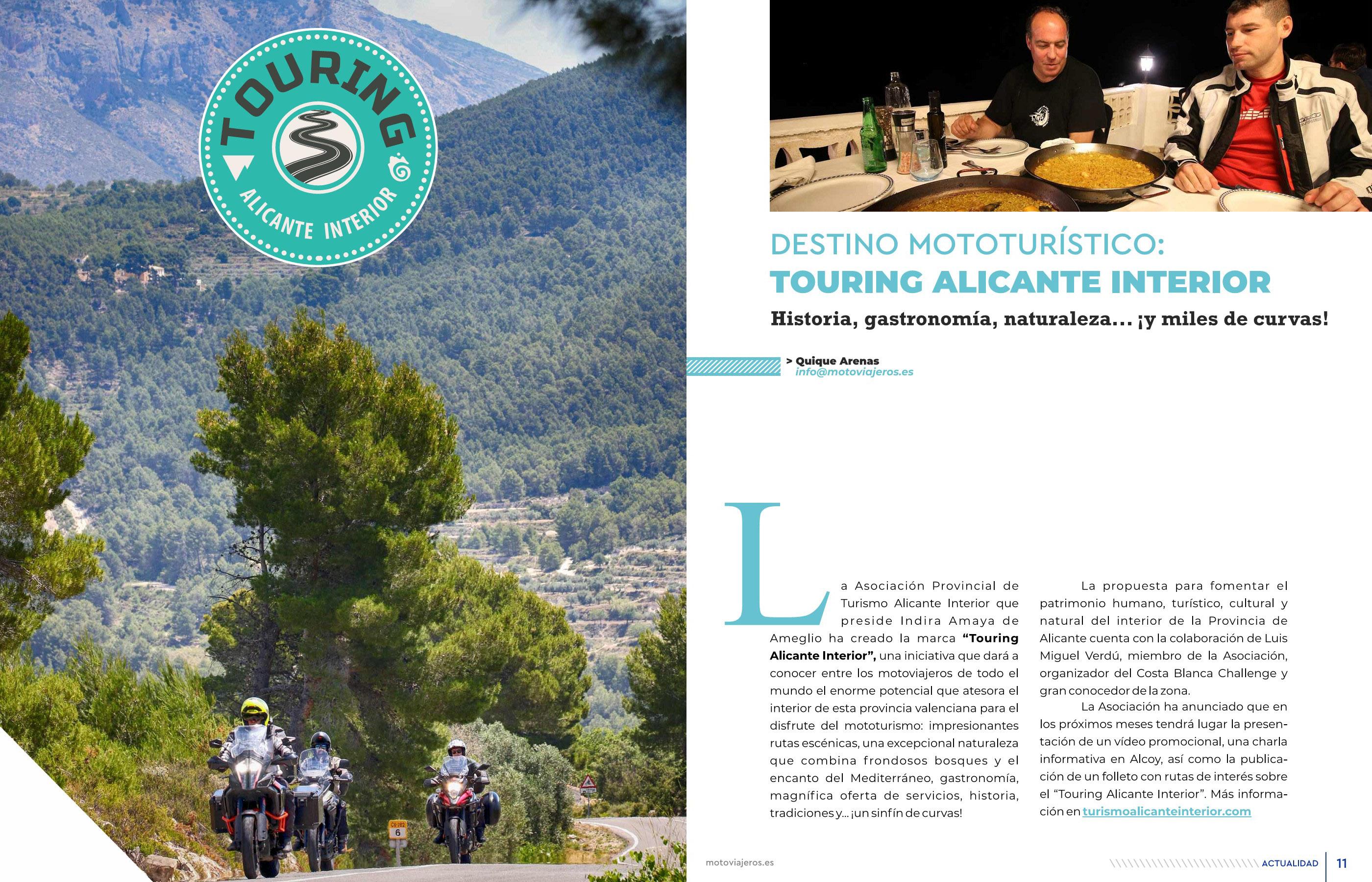 Reportaje publicado en Mototurismo